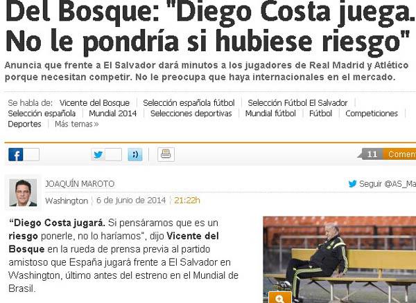 《阿斯报》:博斯克不拿迭戈-科斯塔冒险