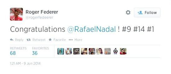 费德勒推特截屏