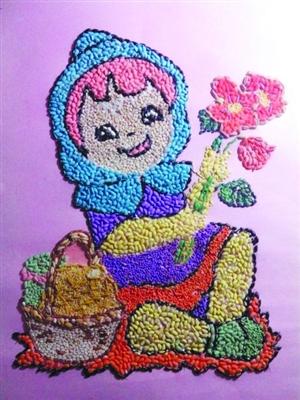 鸡蛋壳贴画艺术图片