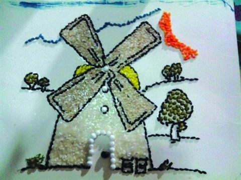 五谷杂粮贴画艺术图片