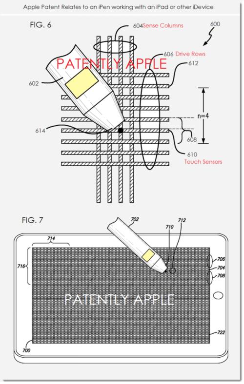 苹果iPen技术专利(图片引自cnbeta)