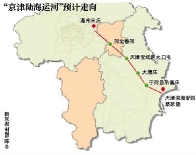 北京蓝皮书建议开凿京津陆海运河