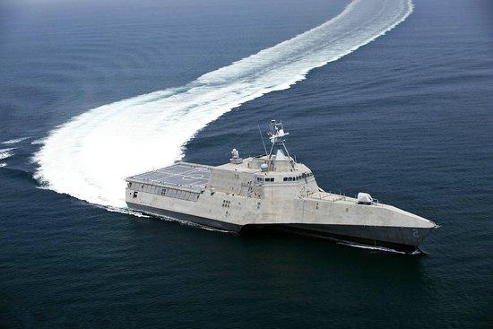 中国三体海事执法船酷似曝光美军濒海战斗舰水龙头图纸加工图片