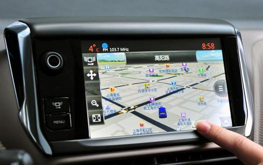 标致2008智能导航系统领航未来高清图片