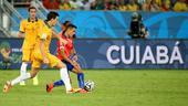 文:B组赛智利迎战澳大利亚 两队队员明争暗抢