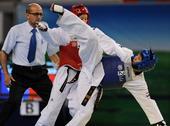图文:世界跆拳道大学生锦标赛 萨利塔横飞