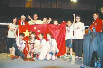 崂山区区实验小学在第35届世界头脑奥林匹克创新大赛中蝉联冠军