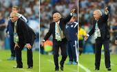 图文:阿根廷教练萨维利亚情绪变化 似做体操