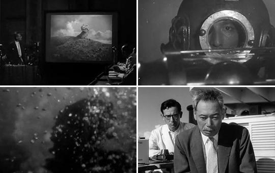"""芹泽博士的""""氧气毁灭物质""""终于杀死了哥斯拉,山根教授却忧虑人类无限制的核试验终将带来更多怪兽"""