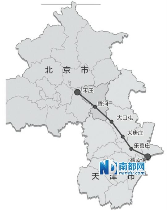 北京宋庄地图 手绘