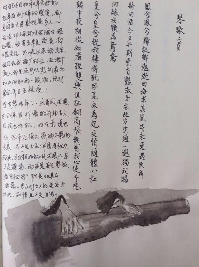 川大才女耗时两月手绘最美读书笔记 引网友点赞图片