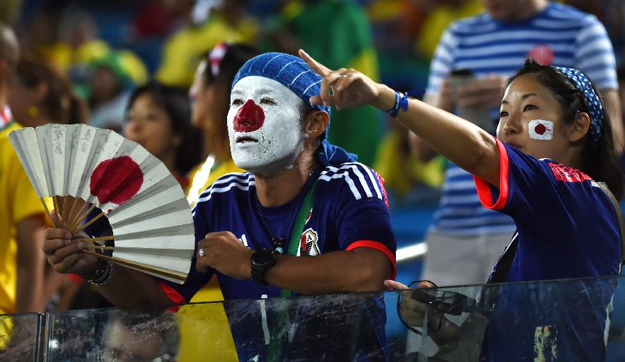 (世界杯)(1)足球——日本球迷加油助威(图)