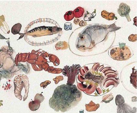 法国美食手绘画画版