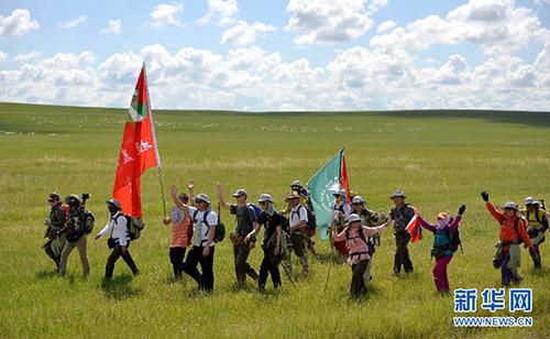 第三届乌拉盖河徒步溯源之旅在天边草原举行