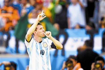 梅西助阿根廷队绝杀伊朗队。CFP供图