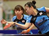 图文:日本乒乓球公开赛 福原爱击球