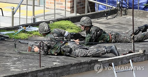 韩国军方围捕枪击事件肇事士兵