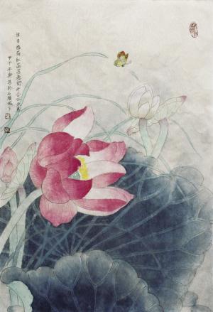 刁斯为作品《六月花神》