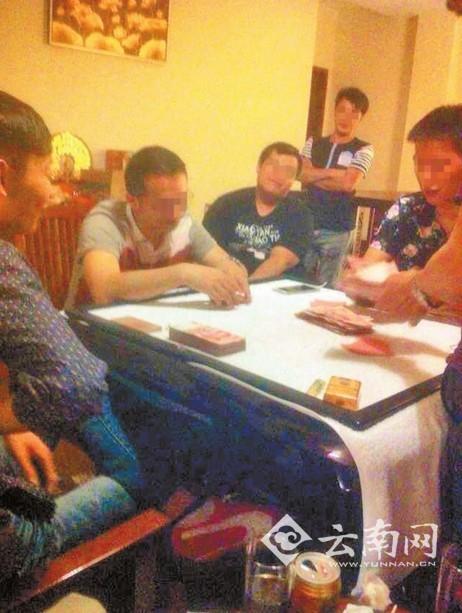 小刘收到对方发来的小尹参加赌博的照片 小刘 供图