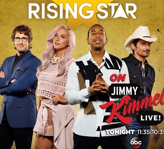 美国版《Rising Star》宣传海报。