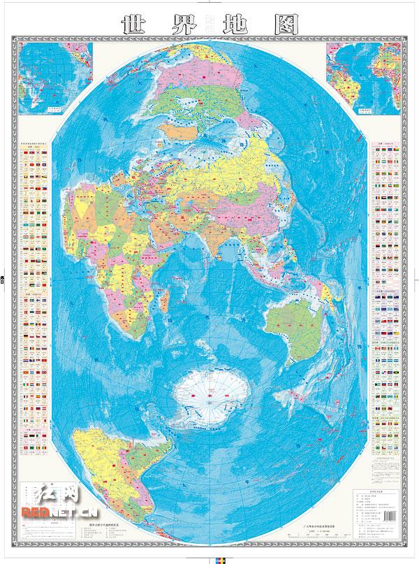 南海海域和岛屿与大陆为同一比例尺,南海诸岛不再作为插图形式表示.