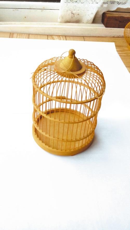 他做的鸟笼子有卖相(组图)