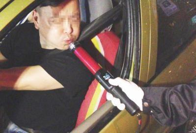 酒架司机吹气测试