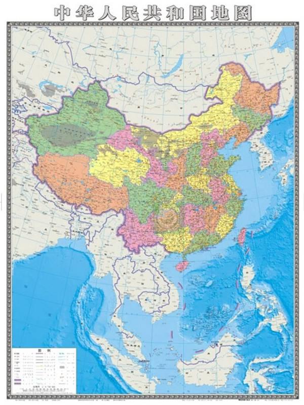中国地图全图_首批竖版中国地图问世 全面直观认识中国全图-搜狐大连