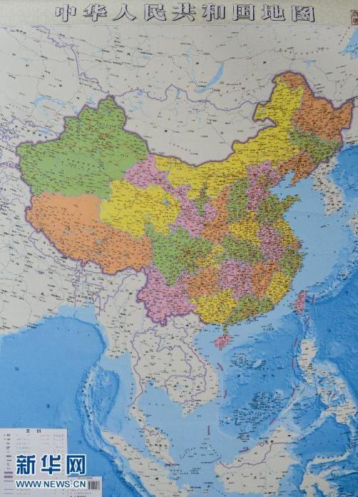 国内首创的大幅面竖版中国地图正式问世