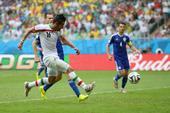 进球回放:古钱内贾德推射破门 伊朗世界杯首球