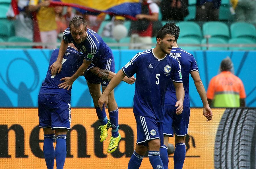 新华社照片,萨尔瓦多(巴西),2014年6月25日 (世界杯·进球时刻)(1)足球—小组赛F组:弗尔萨耶维奇进球