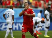 高清图:瑞士3-0洪都拉斯 沙奇里轰世界波戴帽