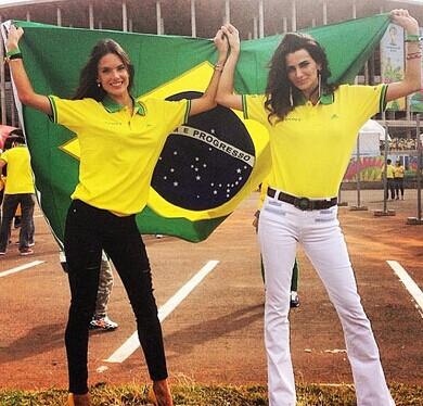 世界杯巴西队粉丝阵容强大。