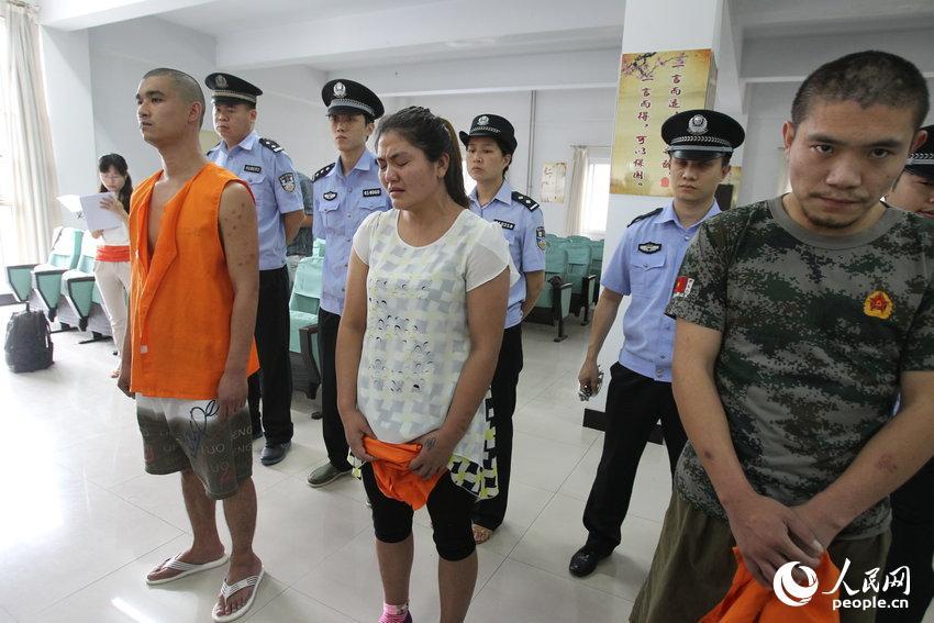 2014年6月25日,郑州市第二看守所,三名87因贩卖毒品后被郑州市中级图片