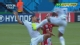 视频-伊扎古雷为争头球 高跳误踹克拉罗斯胸口