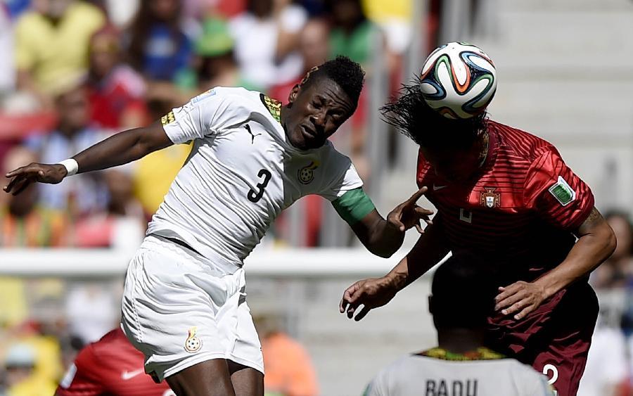 新华社照片,巴西利亚(巴西),2014年6月26日 (世界杯)(7)足球—小组赛G组:葡萄牙队对阵加纳队