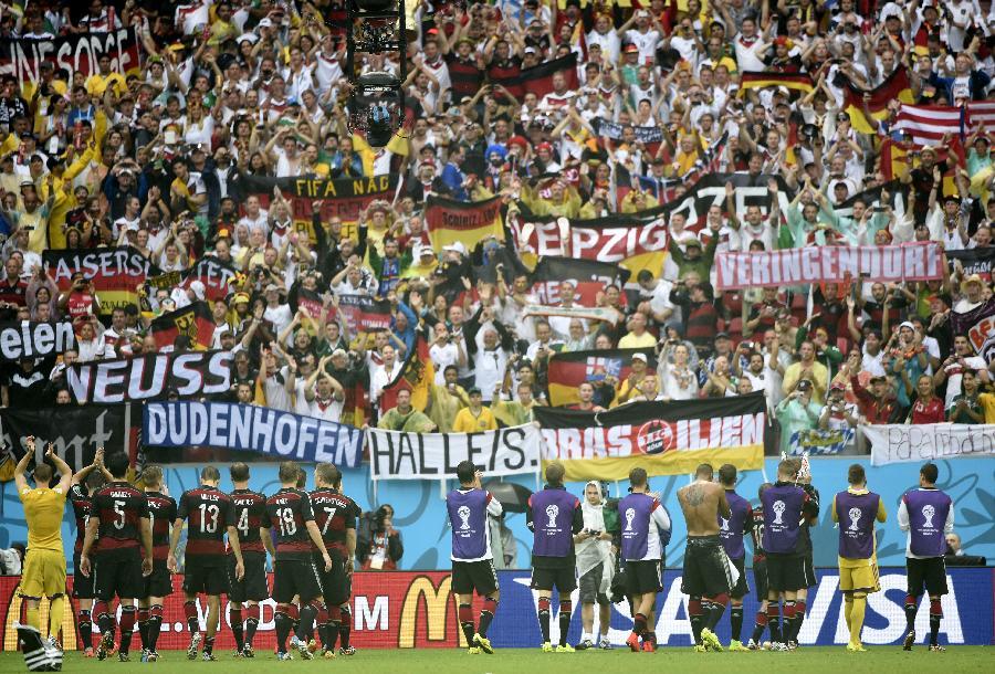 新华社照片,累西腓巴西,2014年6月26日 世界杯5足球—德国队晋级16强