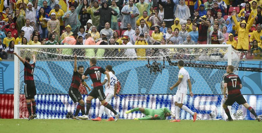 新华社照片,累西腓巴西,2014年6月26日 世界杯23足球—美国队晋级16强