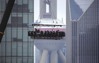 上海空中餐厅开张食客悬空50米就餐(图)|上海