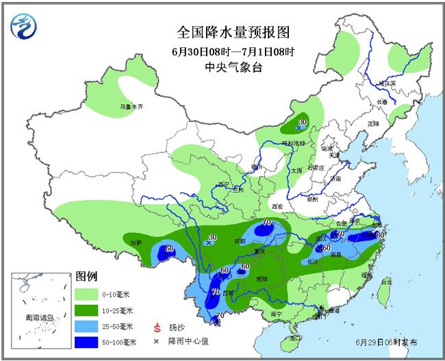 暴雨预警持续 西南地区有大到暴雨 需加强防范洪涝及次生灾害