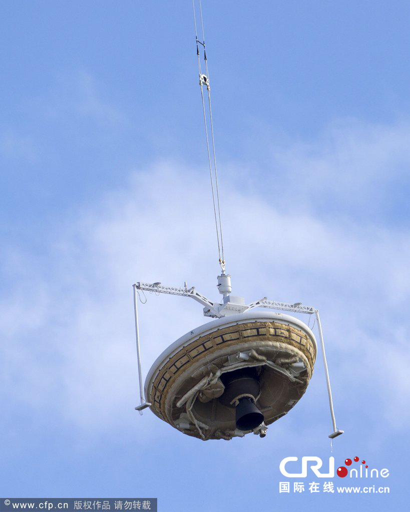 美国宇航局测试蝶形飞船 将执行火星登陆任务(高清组图)