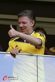 高清图:哥伦比亚晋级八强 总统球迷热烈齐欢庆