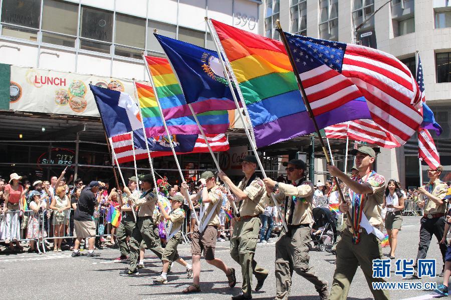 火拼曼哈顿_纽约曼哈顿举行同性恋大游行(高清组图)-搜狐滚动
