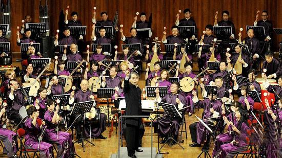 管弦乐队的彩排 管弦乐队总谱 民族管弦乐队分布图