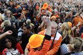 高清图:荷兰球迷各种狂欢 沙滩草地水池内热舞