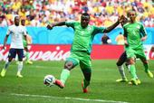 尼日利亚越位进球回放 埃梅尼克接妙传捅射(图)