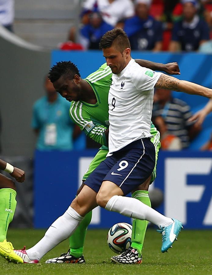 历届世界杯足球名字_(世界杯)(89)足球——法国队对阵尼日利亚队(图)-搜狐滚动