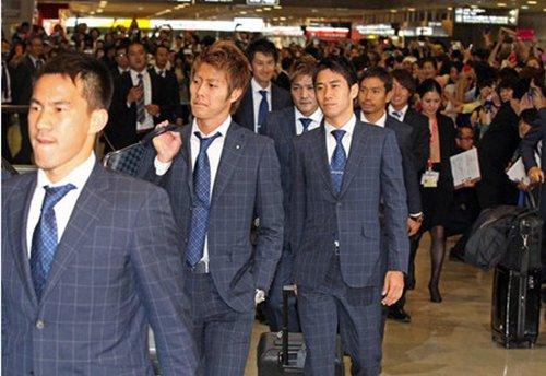 日本队回国