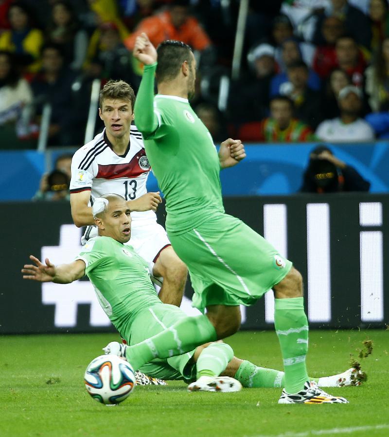 (世界杯)(64)足球——德国队对阵阿尔及利亚队