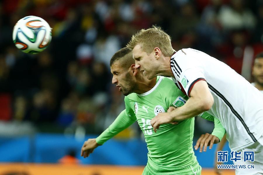 6月30日,德国队首发阵容。当日,在巴西阿莱格里港河滨球场进行的2014年巴西世界杯八分之一决赛中,德国队加时2:1击败阿尔及利亚队。新华社记者李尕摄